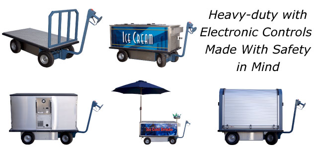 Heavy Duty Mobile Carts with Electronic Controls