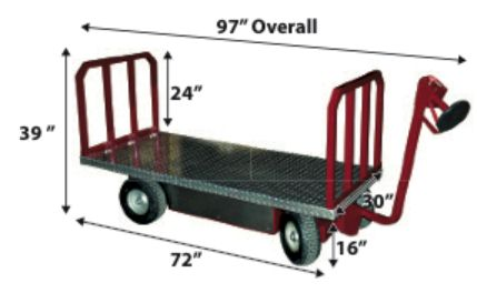 Long Bed Moving Cart Specifications